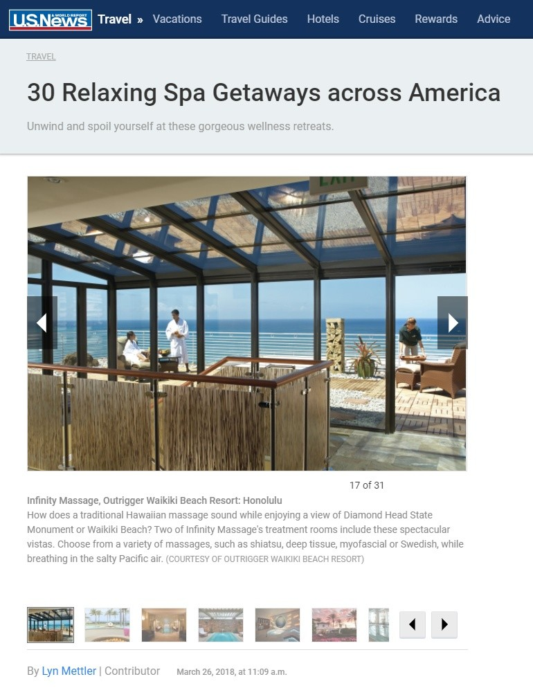 US News Featuring Infinity Spa
